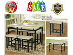 Dining Table Set Pub Kitchen Small Breakfast Nook Apartment