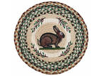 "Vintage Rabbit 15.5"" Round Braided Jute Chair Pad 49-CH413VR"