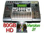 BOSS BR-1600CD Digital Recorder 80 GB w/ CDRW & DRUMS