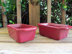 Chantal~2½ Cup Loaf Pans~Burgundy~Pair
