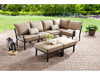 Mainstays Sandhill 7-Piece Outdoor Sofa Sectional Set