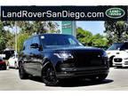 2020 Land Rover Range Rover Black, 28 miles