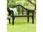 Lutyens Wood Garden Bench - Black