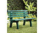 German-Made, Weatherproof Resin Garden Bench - Green