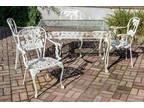 Vintage Molla Cast Aluminum Outdoor dining set