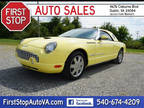 2002 Ford Thunderbird Yellow,