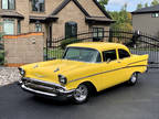 1957 Yellow Chevrolet CUSTOM