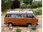 1984 Burgundy Volkswagen Vanagon
