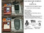 Handheld HUMVEE Digital Compass - Fresh Batteries - Hiking /
