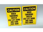 "Brady 85911 Caution Sign 5"" X3-1/2"" Yellow/Black Vinyl 6FR04"