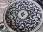 Blue and White Dansk International Designs quot footed servin