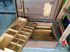Antique journeyman tool trunk