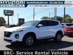 2020 Hyundai Santa Fe White, new