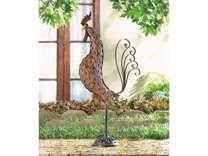 Metal Sculpture Rooster