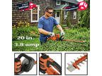3.8 Amp Corded Electric Hedge Trimmer Lightweight Heavy Duty