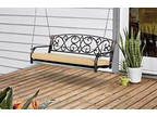 Porch Swing Garden Ardor Outdoor Deck RV Park Steel with w/