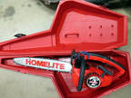 VINTAGE Homelite 2 SUPER Chainsaw Textron 10 INCH BAR WITH