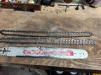 "Oregon Chainsaw 20"" Bar, used with 2 chains"