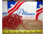 """45 Rubber Bands 7"""" X 1/8"""" Size 117B RED Office Trash Waste"""