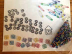 Lot of Colored Square Scroll House Paper Clips