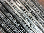 Letterpress Lead Type 12 Pt. Pica Egyptian Extra Condensed