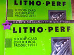 Litho Perf for on Press Perforating 8 Tooth Card