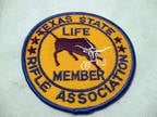 Texas State Rifle Association Life Member Embroidered Patch