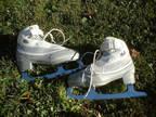Riedell Women's Ladies White Grey Ice Figure Skates Size 6