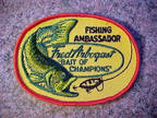 Vintage Fred Arbogast Fishing Patch - Bass Chasing a