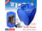 800W Clothes Drying Bag Portable Folding Electric Dryer