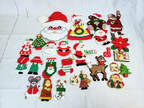Large Lot of Handmade Christmas Fridge Magnets Santa