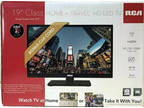"RCA HOME and TRAVEL 19"" LED HD TV - WITH AC/DC CAR CHARGER"