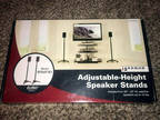 Sanus EFSAT-B1 Euro Series Adjustable Height Black Speaker