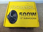 """Coustic By MTX C124 12"""" 500 Watt Car Audio Subwoofer"""