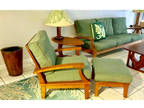 Gloster Teak Ventura Reclining Lounge Chair & Ottoman