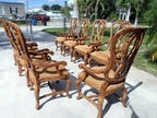 8 Lorts Legacy Ribbon French Dining Arm Chairs Captains Mod.