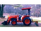 2003 kubota L 3130 diesel tractor w/ attachments!