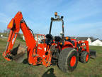 2011 Kioti DK45SE tractor loader backhoe 45 hp diesel 4x4