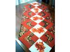 Fall/Autumn Elegant Handmade Table Runner, Completely