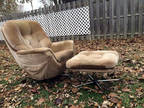 Groovy Classic Chair and Ottoman in Good Condition!