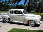 1946 Ford Deluxe Coupe V-8 Wimbleton White