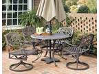 5-Pc Traditional Dining Set in Rust [ID 3147892]