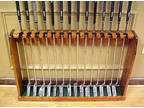 Hand Made in USA Solid Wood Display Floor Rack for 14 Golf