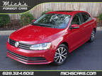 2017 CARDINAL RED METALLIC ON BLACK MOONROOF BLUETOOTH BACKUP CAM Volkswagen