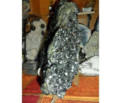 Gorgeous and Beautiful Massive 16.6 lbs. of Natural Black Andradite Garnet Cryst is a Black Collectibles for Sale in New York NY