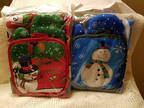 Christmas Oven Mitt, Apron, Pot Holders 3 Piece Snowman 2