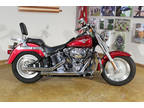 2004 LAVA RED Harley-Davidson SOFTAIL FAT BOY FLSTFI