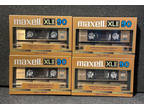 4 Maxell Xl II 90 Extra Fine Epitaxial Cassette Blank Tape