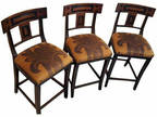 Set of Three Michael Taylor Walnut Bar Stools