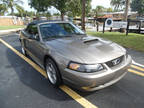2002 Mineral Grey Metallic Ford Mustang